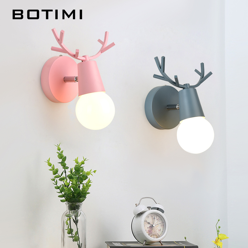 BOTIMI LED Wall Lamp Reading Wall Sconce Modern Adjustable Wall Lamps For Bedroom Metal Bedside Lights Wall Mount Kitchen Light botimi modern wall lamp for living room bedside lamp led wall light nordic wall sconce simple reading light fxture