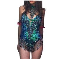 2019 backless Sequins bodysuit women Bodycon Jumpsuit Romper sexy tassel body feminino Elegant beachwear macacao feminino
