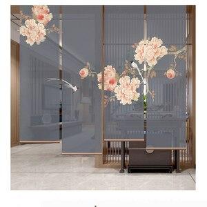 Rideau roulant semi-transparent diviseur de salle   Paravent suspendu de salon, offre spéciale