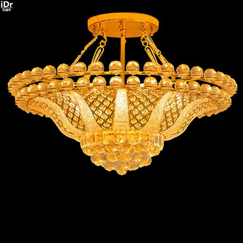 The New European Modern Crystal Lamp Living Room Bedroom Lighting Traditional Gold Chandeliers