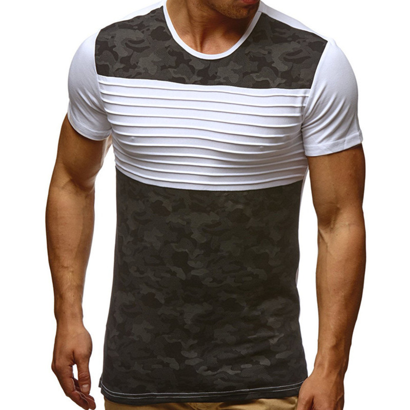 Men's Short-sleeved T-shirt Camouflage Shirt Round Neck Fashion tshirts Casual Tops mens clothing t shirts