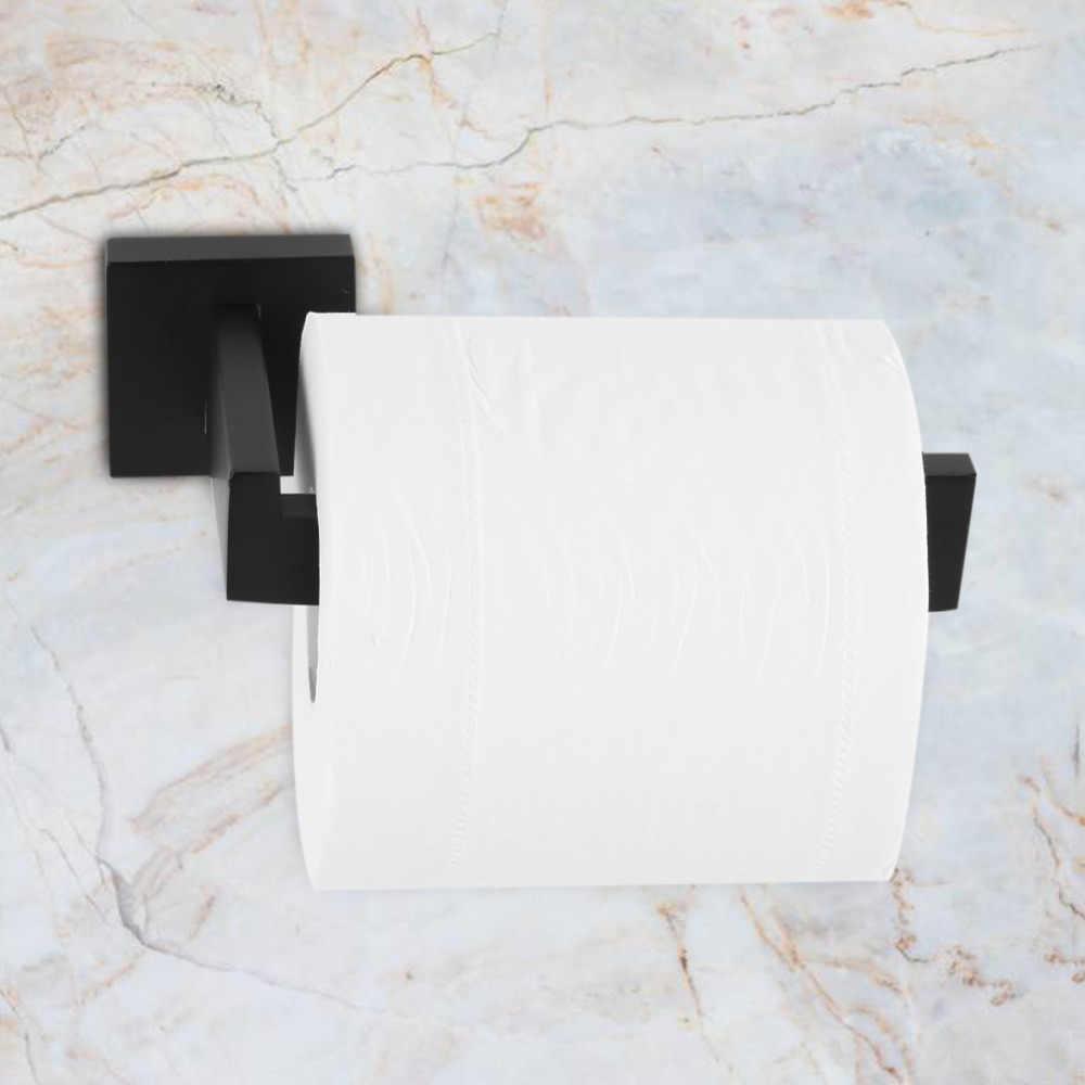 Pojedyncza rura do montażu na ścianie uchwyt na papier toaletowy stelaż półki rolki ręcznik łazienkowy szyna Bar wieszak na ręczniki