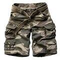 Новый 2016 Летний Стиль люди вскользь армия камуфляж грузовые шорты хлопок шорты военный камуфляж моды шорты мужчин пляжные шорты