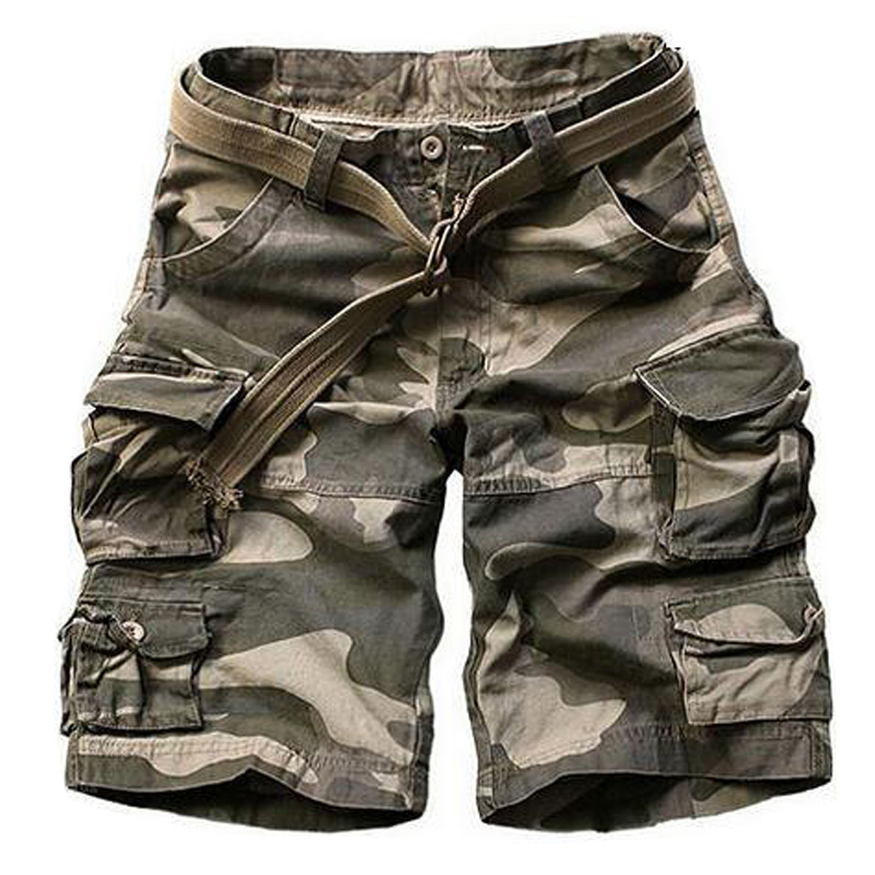 New 2016 Summer Style Mens Casual Army Camo Cargo Shorts Cotton Short Pants Military Camouflage Fashion Shorts Men Beach Shorts