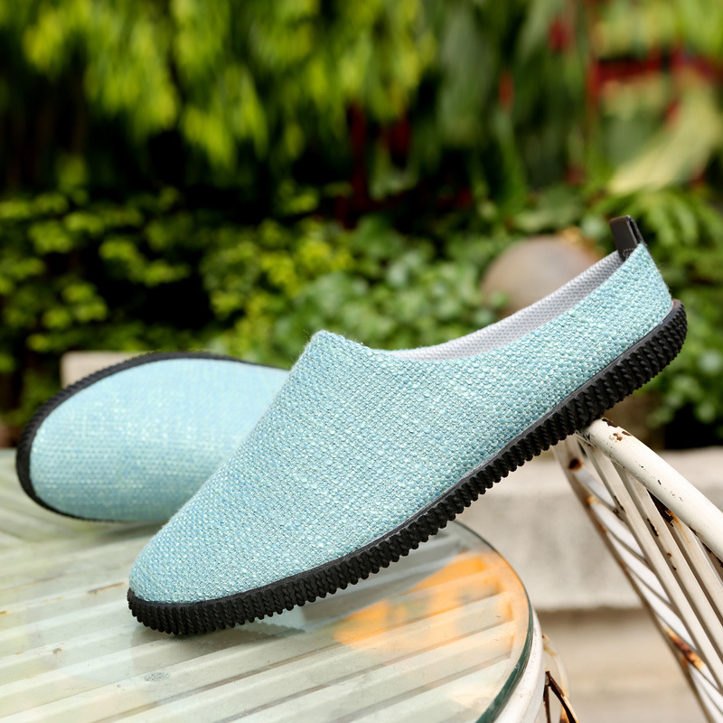Summer Korean Fashion Canvas men 39 s slippers bean shoes trend casual shoes men 39 s Loafers Spring Lazy Flats Footwear in Men 39 s Casual Shoes from Shoes