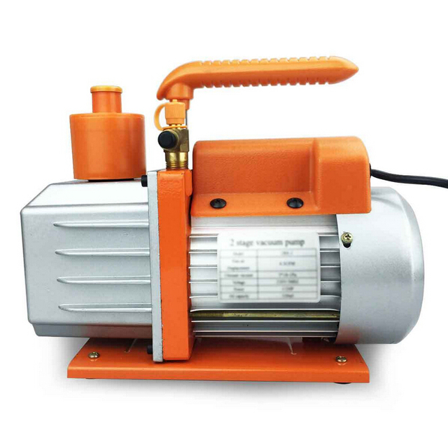 US $176 99 |2 Stage 12CFM Rotary Vane Refrigeration Vacuum Pump 110V HVAC  Air AC A/C R410a R134a-in Pumps from Home Improvement on Aliexpress com |