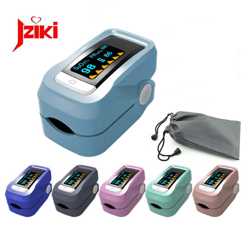 Oximetro De Dedo Pulse Oximeter Blood Saturometro Monitor SPO2 PR Fingertip Oximetro De Pulso Portable Pulsioximetro