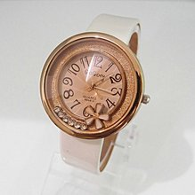 sales promotion Wholesale flower rolling crystal wrist watch women fashion leather quartz watch S15