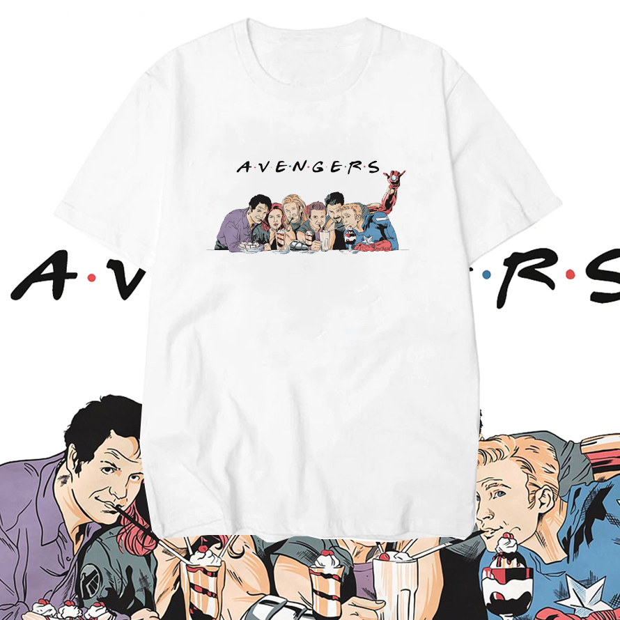 Avengers Endgame Friends T Shirt Men Marvel Avengers Summer Men T-Shirt Short Sleeve Brand Tee Shirt Tops&Tees Streetwear(China)