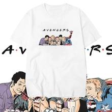 Avengers Endgame Friends T Shirt Men Marvel Avengers Summer