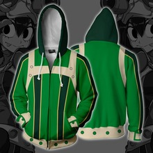 My Hero Academia Asui Tsuyu Cosplay Costume Hoodies Anime Sweatshirts 3D New Men Women College Clothing