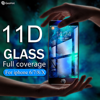 11D protective glass for iPhone 6 7 6S 8 plus X XS MAX glass iphone 7 6 8 X XS MAX screen protector glass on iPhone 6 7 8 6S XR