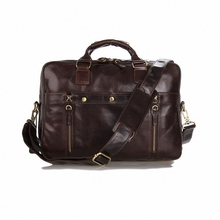 2016 Luxury Men briefcase Laptop Genuine Leather Men Briefcase Business Bag male Shoulder Bag Crossbody Bag Tote Handbag LI-1517
