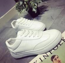 freeshipping     Big yards for women's shoes 2016 autumn and winter New fashion with white shoes lighter flat shoes 35-44