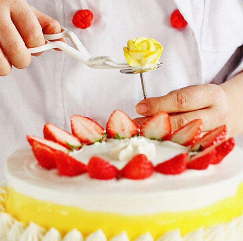 Творческий Нержавеющаясталь торт цветок иглы Стенд торт кекс Обледенение крем сахарные украшения инструмент Кухня гаджеты S