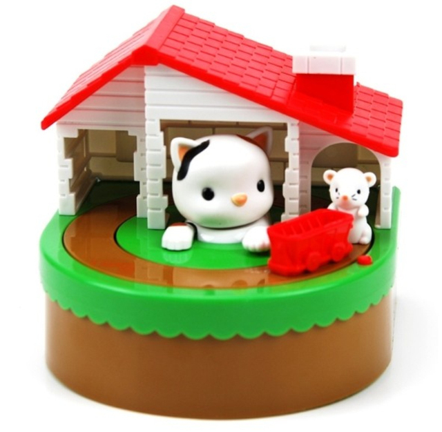 Free shipping 1Piece Sutakora Cat and Mouse Coin Bank Cat and Mouse Moving Money Box Piggy Bank
