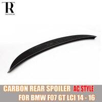 F07 karbon Fiber arka Spoiler kanat için BMW F07 5 serisi GT LCI 2014 2015 2016 (uygun değil ön pre-lci 2010-2013)