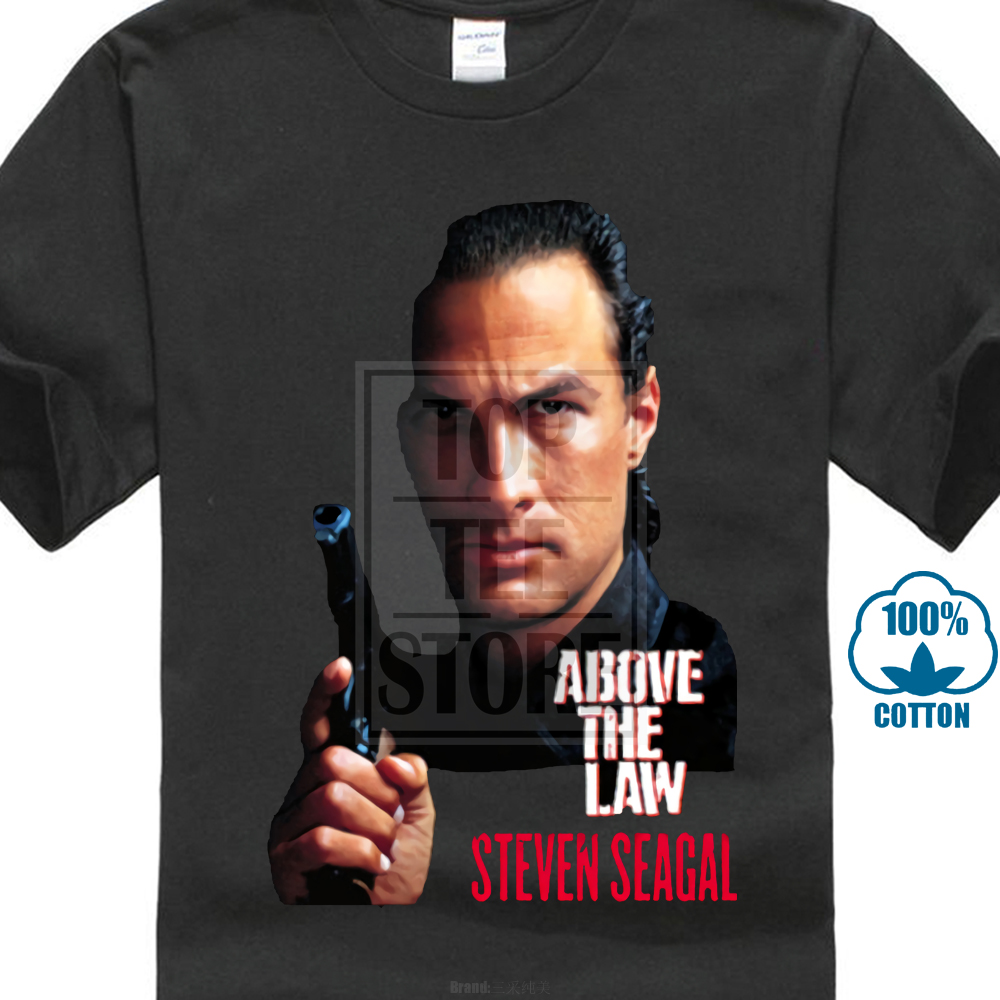 Above The Law T Shirt Tee Steven Seagal Action Movie New From Us image