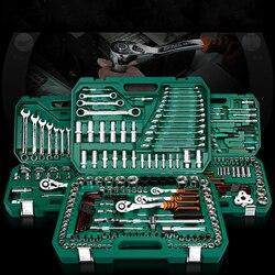 Nowe ogólne narzędzie do naprawy samochodów domowych zestaw z plastikowa skrzynka na narzędzia futerał do przechowywania gniazdo klucz grzechotkowy śrubokręt zestaw narzędzi ręcznych w Klucze od Narzędzia na