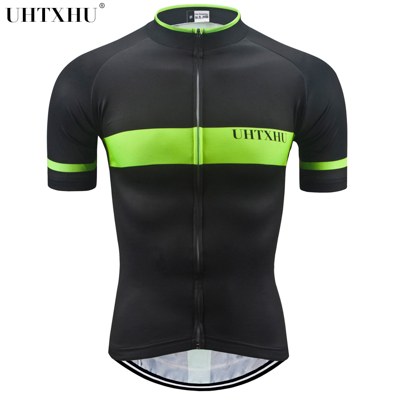 Uhtxhu Short Sleeve Mens Cycling Jersey 2018 Mtb Jersey Bike Clothing Mountain Bicycle Shirt Cycling/Cycle Jersey Men image