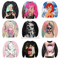 Stars Cartoon Sexy Lady skull Punk/Marilyn Monroe Print 3d Sweatshirt Women/Men Outerwear Harajuku hoodies plus size S-XXL