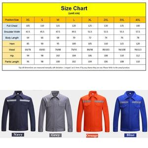 Image 5 - Long Sleeve Work Uniforms Top Work Jacket Navy Blue Work wear Mechanic