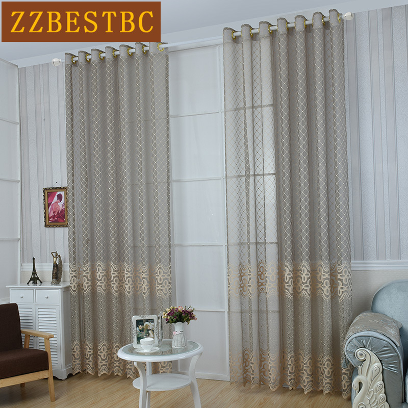Custom Made  European luxury tulle curtains for Living Room Upscale lace Voile Curtain for Bedroom Window curtain kitchen/Hotel
