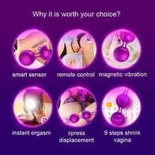 FOX Smart Remote Control Vibrating Egg Kegel Exercise Vaginal Balls Vibrators 20 Meter Control Distance Adult Sex Toys for Women