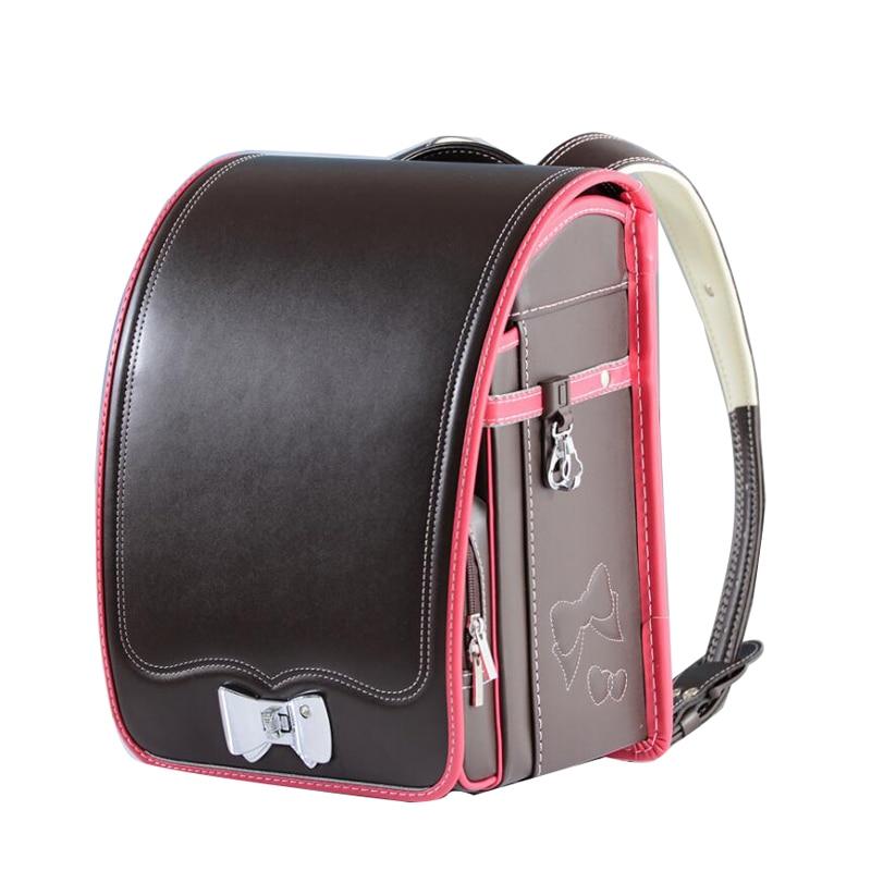 High Quality Kid PU Solid Children's school Bag Brand Backpack For Boy and girl Japan Flip book bag Backpack Mochilas Infantis