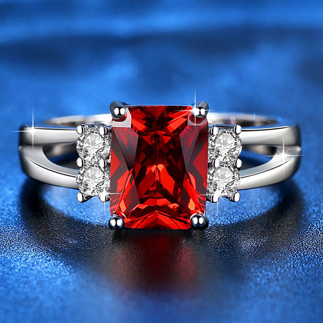 Exquisite Princess Cut Cubic Zirconia Fashion Ring 5