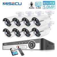 MISECU 8CH 5MP 4MP POE Kit système de caméra de sécurité H.265 enregistrement Audio caméra IP IR extérieur intérieur étanche HD surveillance vidéo