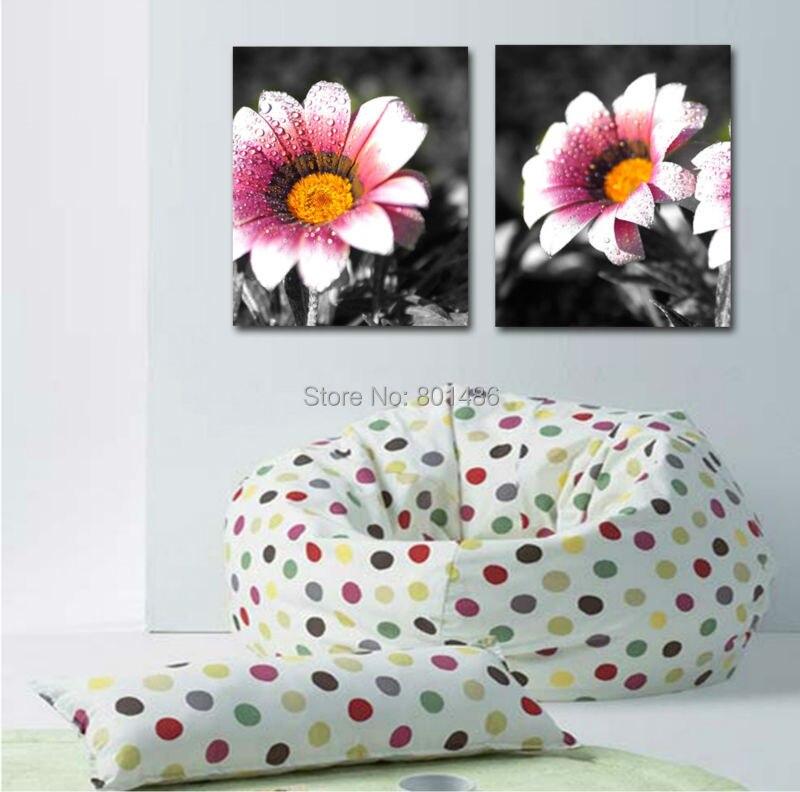 Áƒ¦ Áƒ¦panneaux Couleur Marguerite Fleur Art Mural Peinture Photos Imprimer Sur Toile Pour La Coration Bureau Maison W821