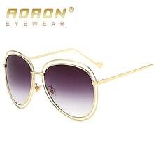 aoron sunglasses women and men gold frame mens openwork hollow wire design brand summer style retro