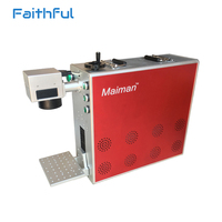 20w 30w Warranty Portable Fiber Laser Marking Machine For Metal Engraving And Non Metal Engraver