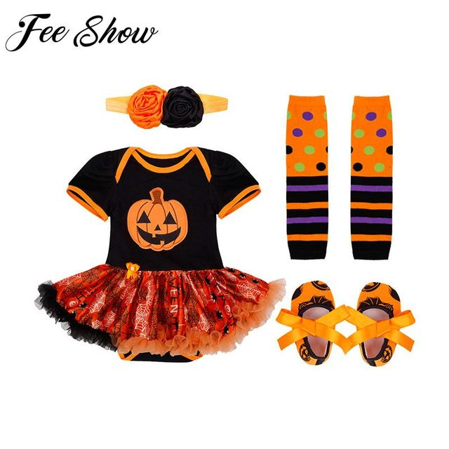 Baby Infant Girls Halloween Costume Newborn Baby Girl First Birthday Dress  Role Play Party Wear 0 12 Months Toddler Girl Dress