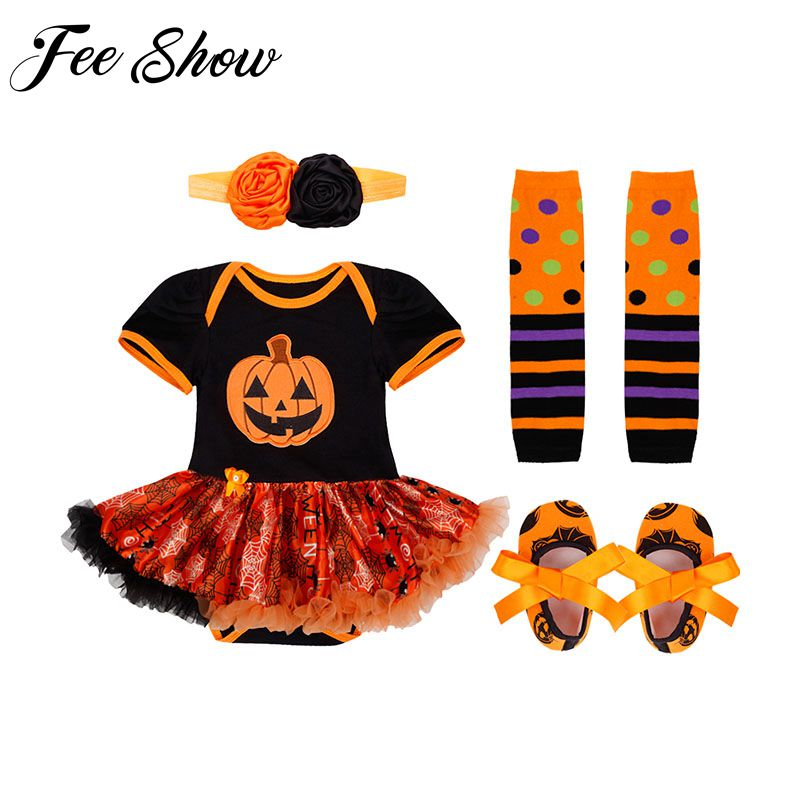Baby Infant Girls Halloween Costume Newborn Baby Girl First Birthday Dress Role-play Party Wear 0-12 Months Toddler Girl Dress ...