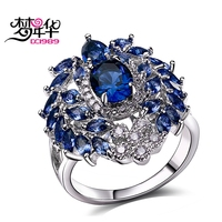 DC1989 Engagement Rings For Women AAA Quality Cubic Zirconia Prong Setting Ladies Party Rings Platinum Plated