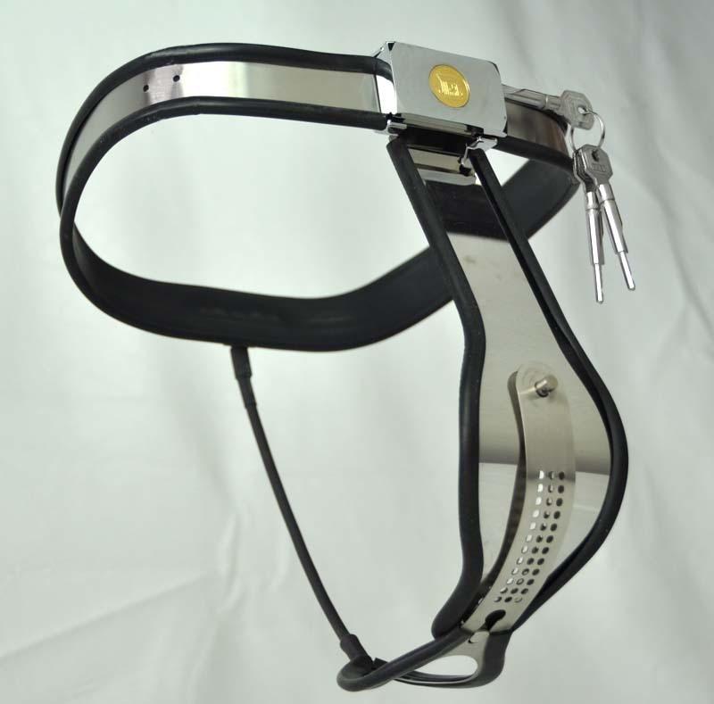 Version II de la ceinture de chasteté en acier inoxydable arc métallique femelle T, 4 couleurs de silicone fétiche bdsm jouets sexuels pour femme jeux d'adultes
