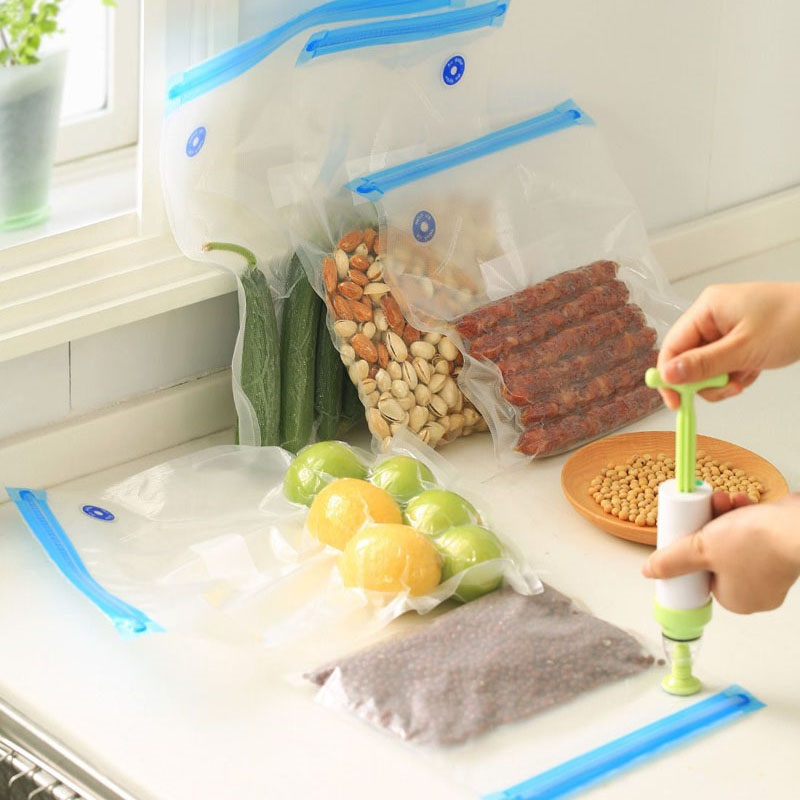 Food Magic Seal Vacuum Bags Compatible with All Vacuum Sealer Machine! Th is bags 4 mil-thickness material is designed to be used on virtually all vacuum sealing machines. This bags material will seal out freezer burn and exte nd the li fe of most foods in the freezer as .