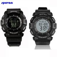 SPOVAN Digital Sport Watch Waterproof Barometer Altimeter Thermometer Stopwatch Fishing Clock Men Reloj Hombre Relogio Masculino