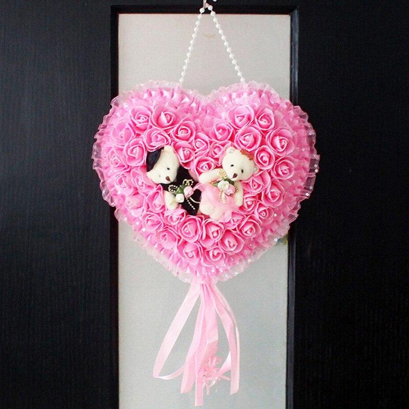 פרחים מלאכותיים פרחי קישוט החתונה זרי ורדים קצף פרחים