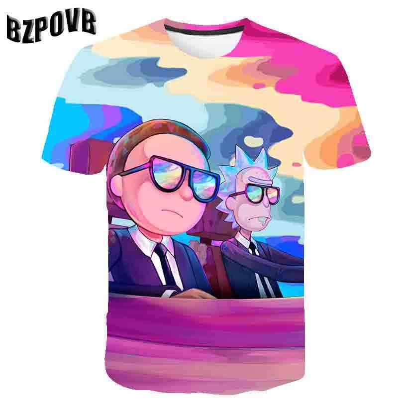 Galaxy Space & Rick Мужская 3D футболка, женские футболки, летние Аниме футболки с коротким рукавом, футболки с круглым вырезом, топы, Морти, Прямая поставка