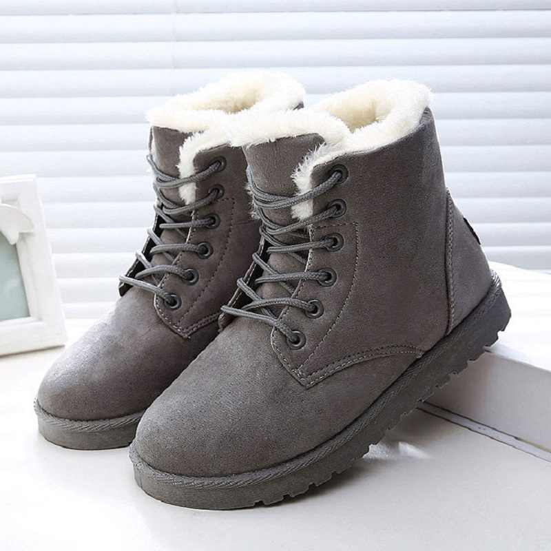 Women Boots Winter Shoes Woman Snow Shoes Warm Faux Suede Ankle Boot For Woman Bota Feminina Plus Size Winter Boots Female Shoes