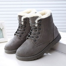 Women Boots Winter Shoes Woman Snow Warm Faux Suede Ankle Boot For Bota Feminina Plus Size Female