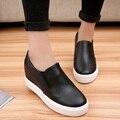 2017 Spring And Autumn Platform Elevator Platform Single Shoes Female Fashion Shoes Round Toe Shoes Lazy Female