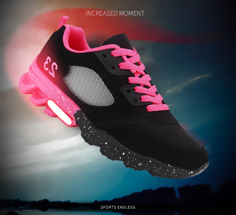 17 New Womens and Girl Brand cheap Running Shoes Outdoor Breathable Athletic Jogging Sneakers student Sport Blade Shoes black 3
