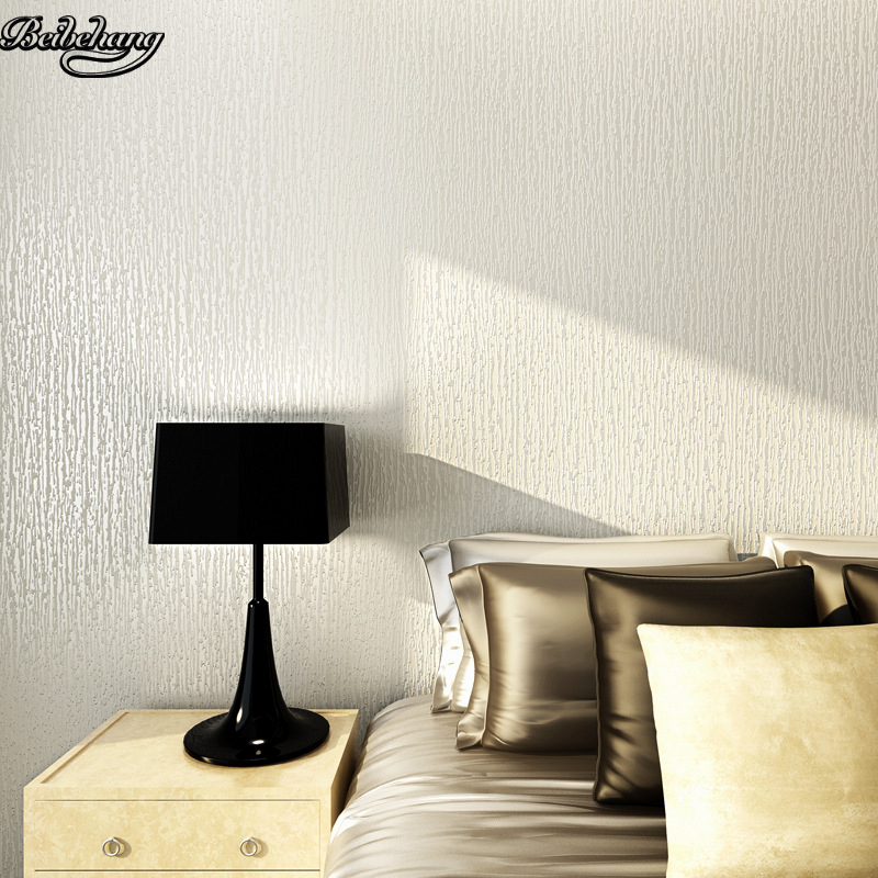 Beibehang Non-woven Modern Simple Abstract Solid Color Large-scale Project Living Room Bedroom Background Full Of Wallpaper
