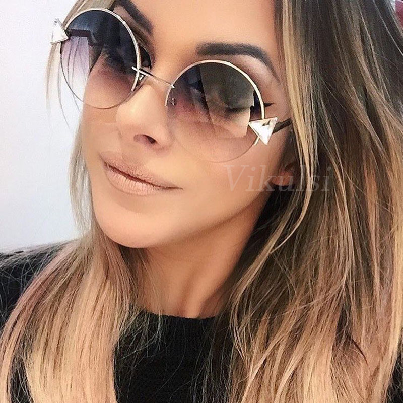 Online-Shop Marke Designer Übergroße Runde Sonnenbrille Frauen 2017 ...