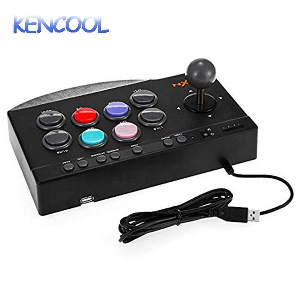 Kencool 5 In 1 Pertarungan Arcade Stick Joystick Gamepad Game Controller untuk PS3/PS4/XBOX 360/Xbox Satu/PC /Perangkat Android Game Fighting
