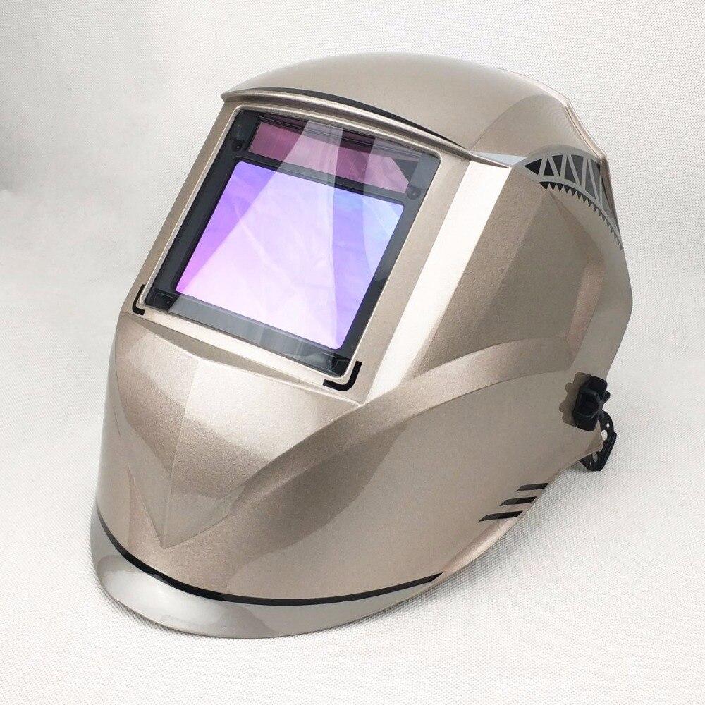 Máscara de solda melhor qualidade óptica 1/1/1/1 vista grande 100*73mm 3.94*2.87 respirador segurança chapéu compatível ce capacete de soldagem solar - 2